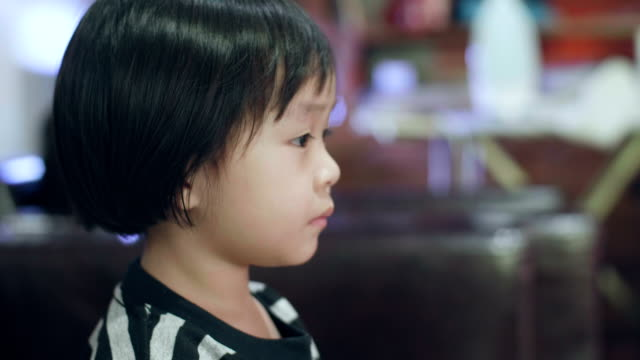 Little Girl Watching Television video