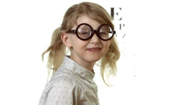 HD: Little Girl Wearing Funny Glasses video