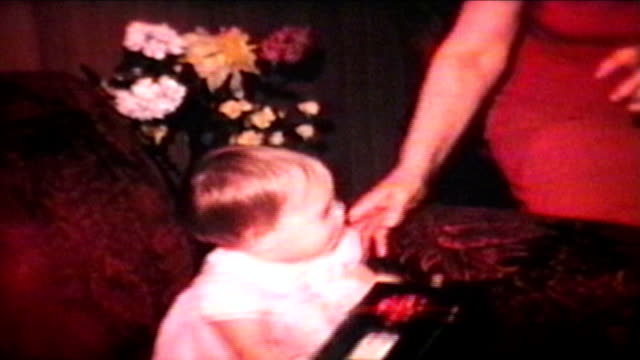 Little Girl With Christmas Gift (1966 Vintage 8mm film) video