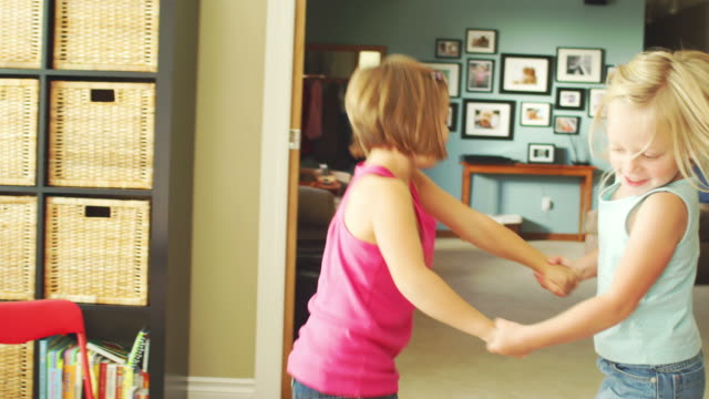 Little girls dance together video