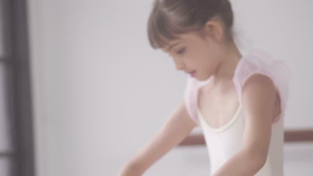 Little girls in ballet class
