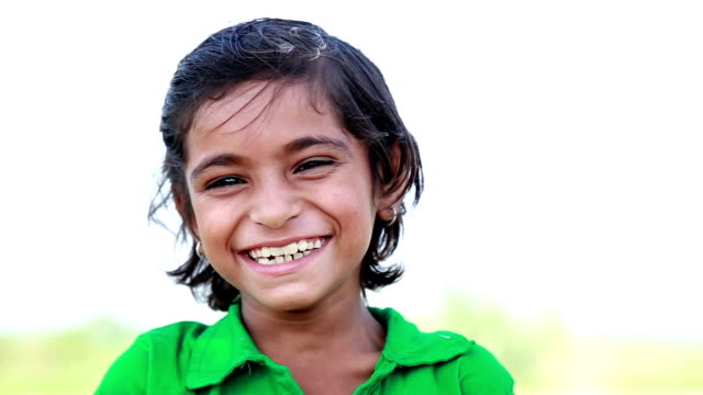 Little Indian Girl Smiling video