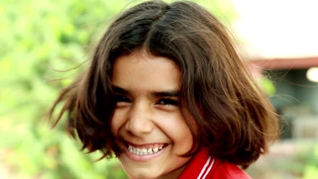 Little Kid Smiling Portrait video