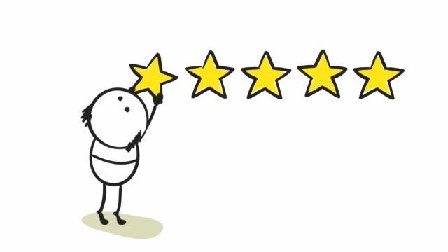 der kleine mann setzt einen stern. - feedback stock-videos und b-roll-filmmaterial