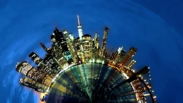 Little Planet Manhattan. Time Lapse video