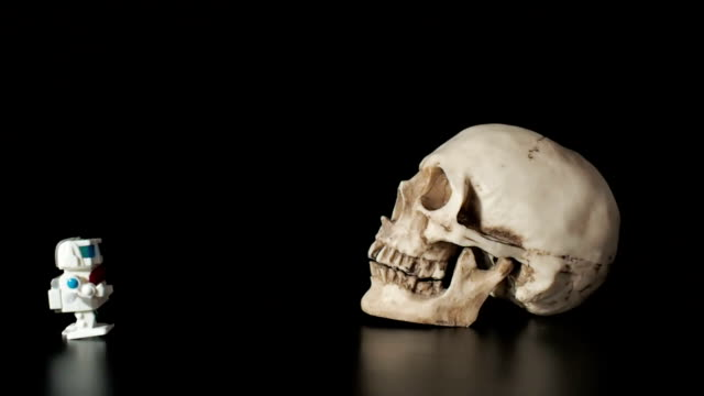 Little robot suited to the human skull. video