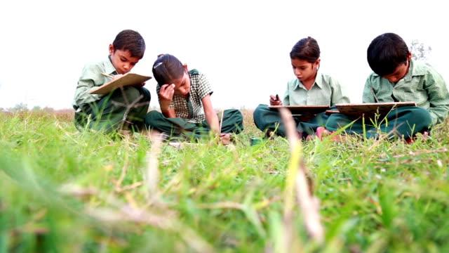 Little School children reading in Uniform video