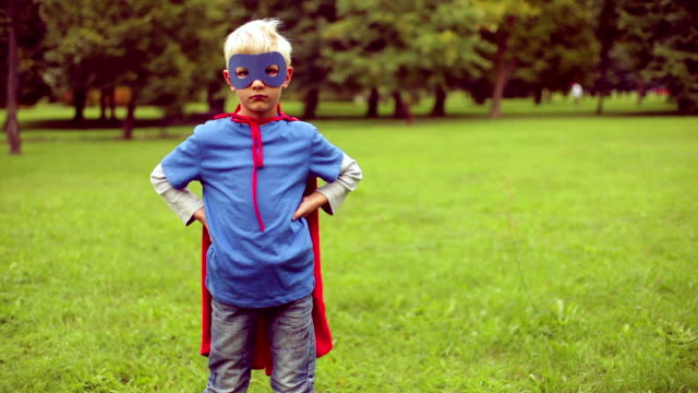 Little superman wins and falls. video