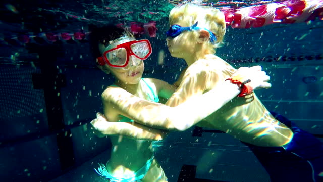 little swimmers embracing video