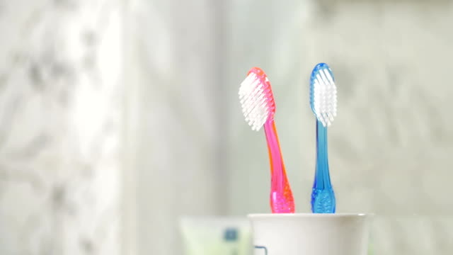 Little Toothbrush Adding to Two Big Ones video