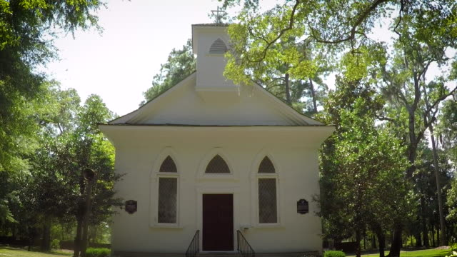 little white chapel - church architecture stock videos & royalty-free footage