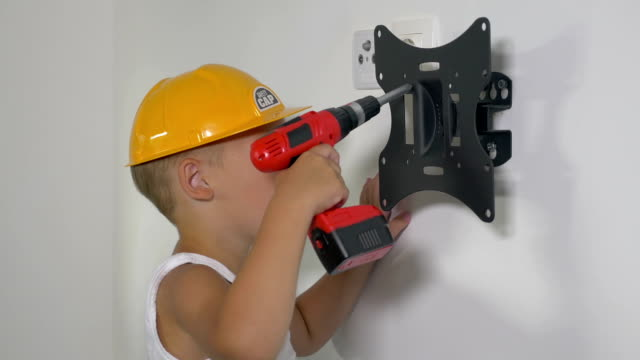 Little Workman with Electric Screwdriver video
