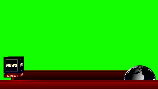 live news flash lower third on a green screen background - newspaper paper video stock e b–roll