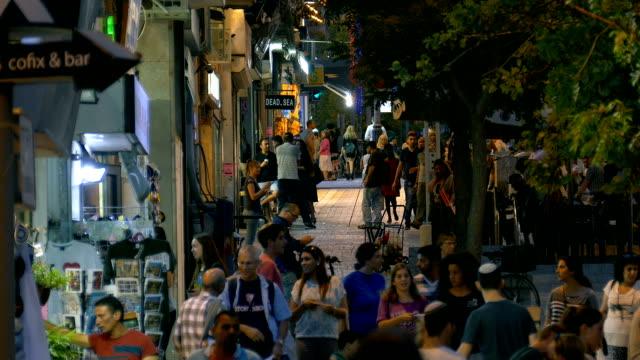 lebhafte jerusalem bei nacht - tora stock-videos und b-roll-filmmaterial