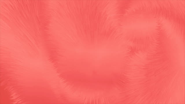 Living coral abstract fluffy fur effect video animation