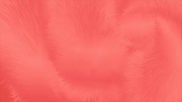 levande korall abstrakt fluffig päls effekt video animation - päls textil bildbanksvideor och videomaterial från bakom kulisserna