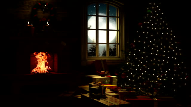 Living Room at Christmas Eve video