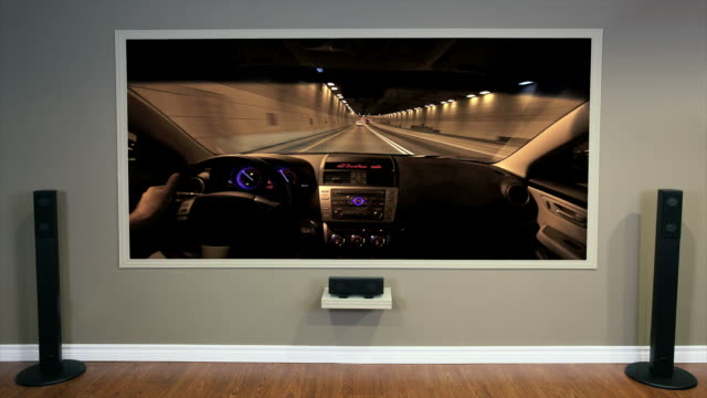 Living Room Home Cinema Displaying a Clip video
