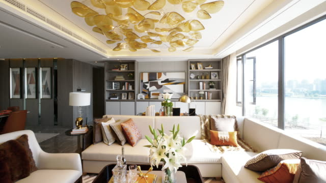 livingroom interior living room interioor modern house stock videos & royalty-free footage