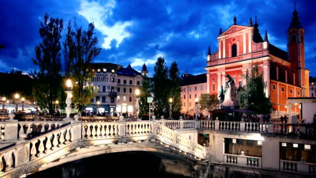 Ljubljana Slovenia Timelapse video