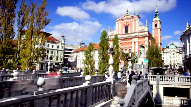 リュブヤナ スロベニア タイムラプス - スロベニア点の映像素材/bロール
