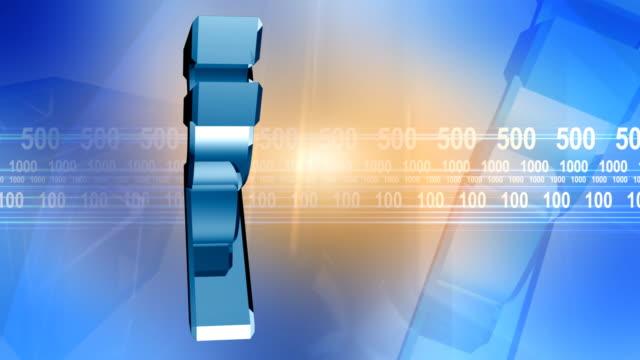 lndian Rupee Sign Background Blue HD video