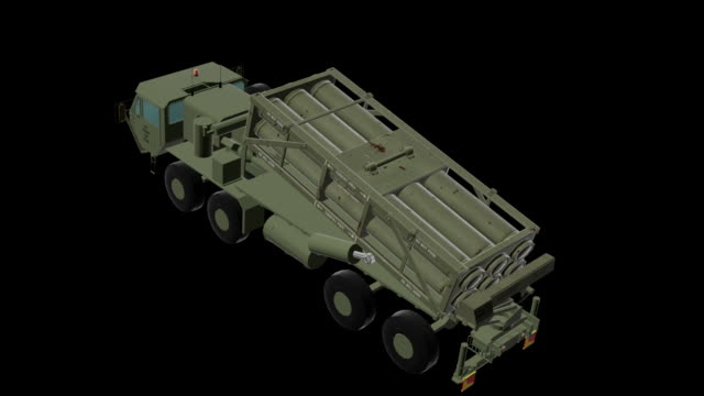 HEMTT loaded whit THAAD missiles - Missile launch video