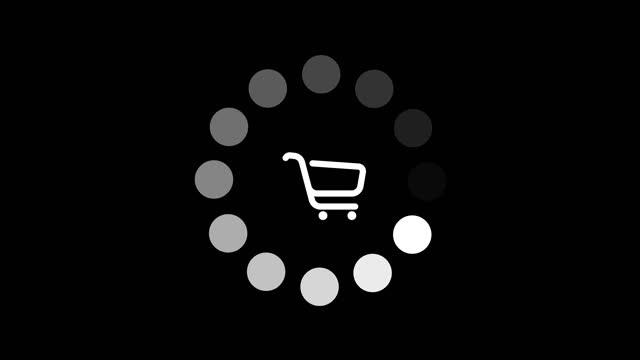 vídeos de stock, filmes e b-roll de carregador girando com um carrinho de compras no meio - liquidação evento comercial