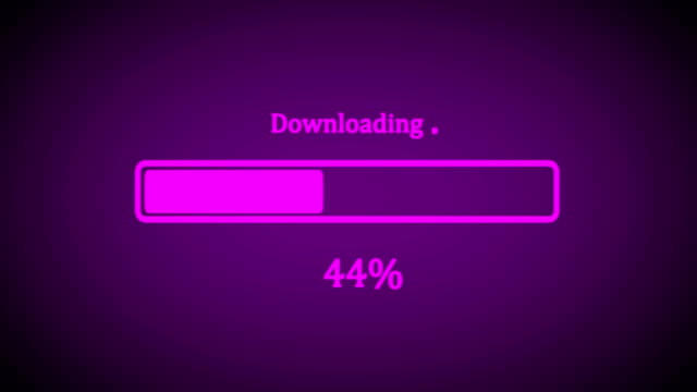 loading animation from 0% till 100%. - adulazione video stock e b–roll