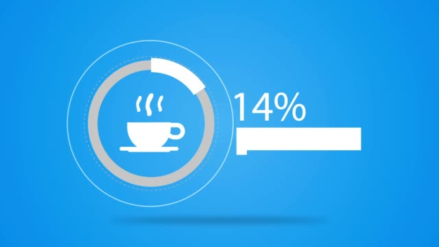 loading bar coffee video