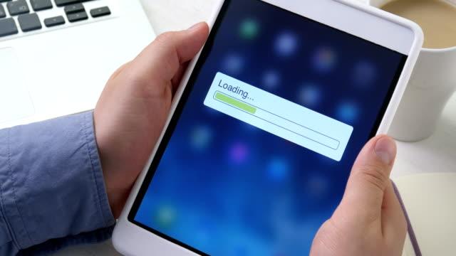 Loading bar on the digital tablet video