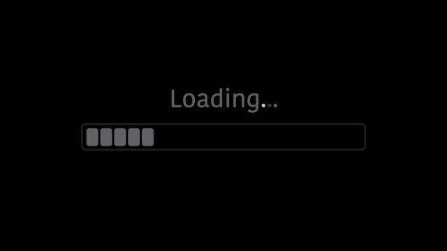 vídeos de stock e filmes b-roll de loading bar with alpha channel 4k animation - upgrade