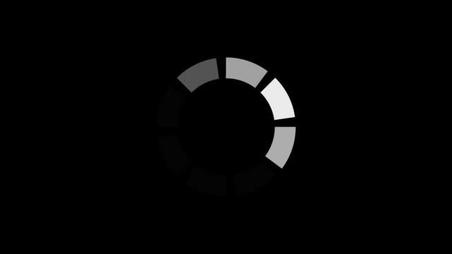 loading circle icon animation isolated on black background - повторный запуск стоковые видео и кадры b-roll