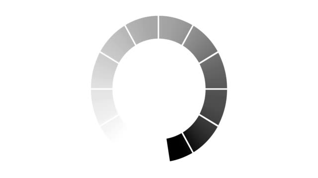 loading circle icon on white background animation with optional luma matte. Alpha Luma Matte included. 4k video video