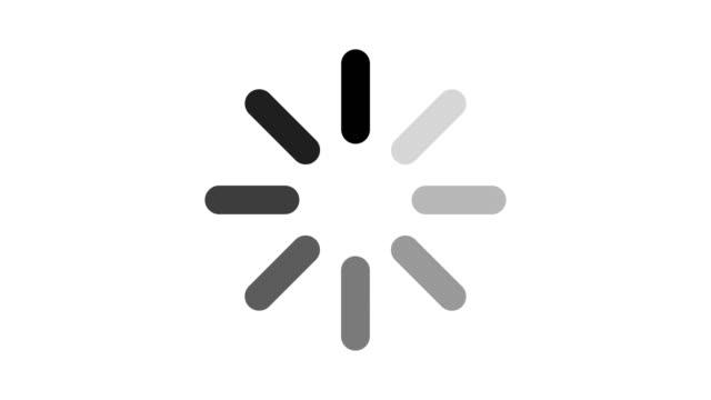 vídeos de stock, filmes e b-roll de carregando ícone do círculo em fundo branco. - carregamento atividade