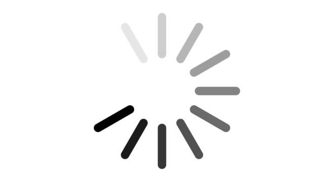 vídeos de stock e filmes b-roll de loading circle icon - carregar