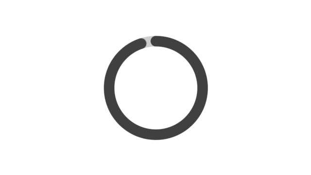 Loading Circle on white screen, Dots fading loading animation. 4K Video loading