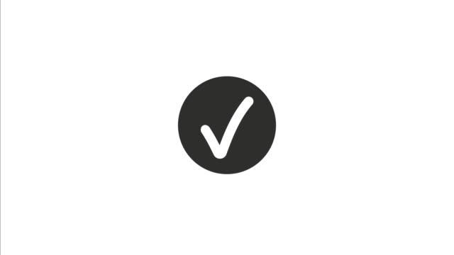 Loading Circle, success loading, complete, download progress, uploading, flat design stock video