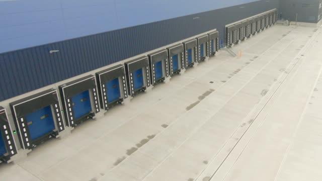 Loading Docks Loading Docks at Distribution Center warehouse aerial stock videos & royalty-free footage