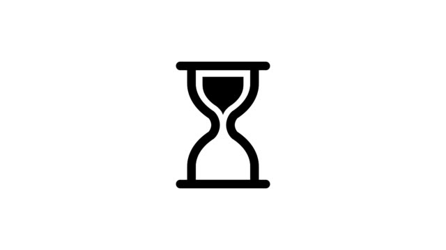 Loading hourglass animation Loading hourglass animation - loading icon animation. Loopable animation. hourglass stock videos & royalty-free footage