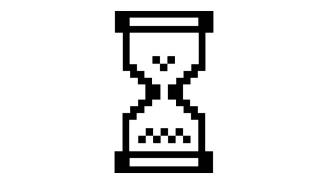 Loading pixel hourglass cursor. Loading pixel hourglass cursor. Seamless loop. White background. hourglass stock videos & royalty-free footage