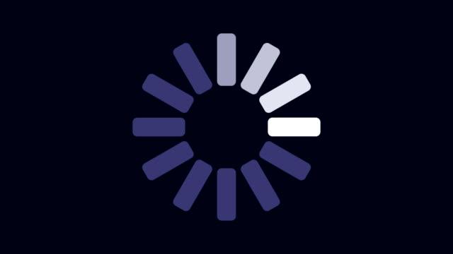 暗い背景のアニメーションの読み込み進行状況のグラフィカルなプレゼンテーション - レポートのビデオ点の映像素材/bロール