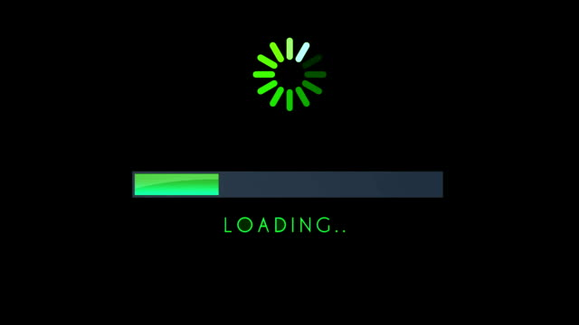 Loading Screen Bar Green video