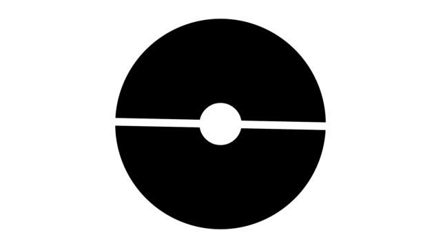 vídeos de stock e filmes b-roll de loading screen circular, black and dark gray on white background - 30fps loop - video texture, seamless animated element - produto de carne
