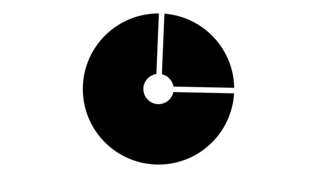 loading screen circular, black and dark gray on white background - 30fps loop - video texture, seamless animated element video