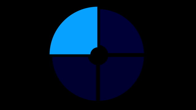 loading screen circular, blue on black background - loop - video texture, seamless animated element video
