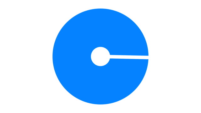 loading screen circular, blue on white background - 30fps loop - video texture, seamless animated element video