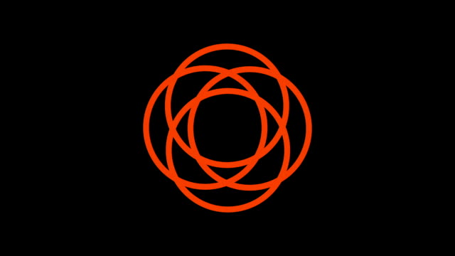 loading screen circular, fiery orange and red on black background - loop - video texture, seamless animated element video