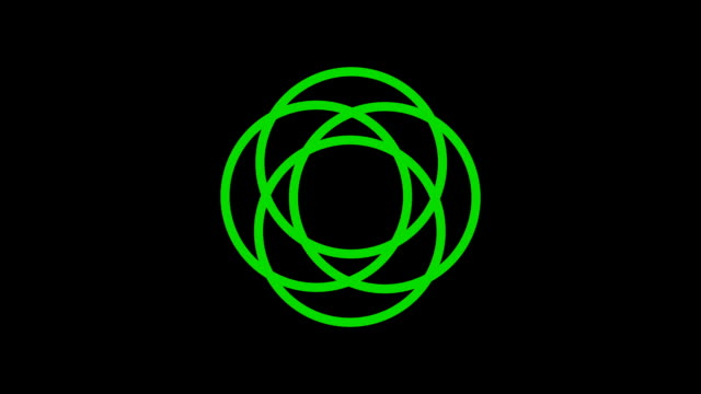 loading screen circular, green on black background - loop - video texture, seamless animated element video