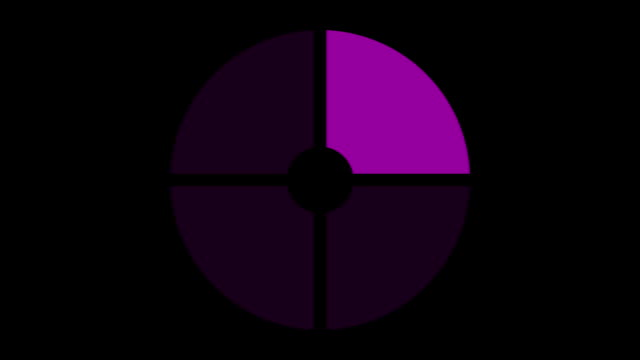 loading screen circular, purple on black background - loop - video texture, seamless animated element video